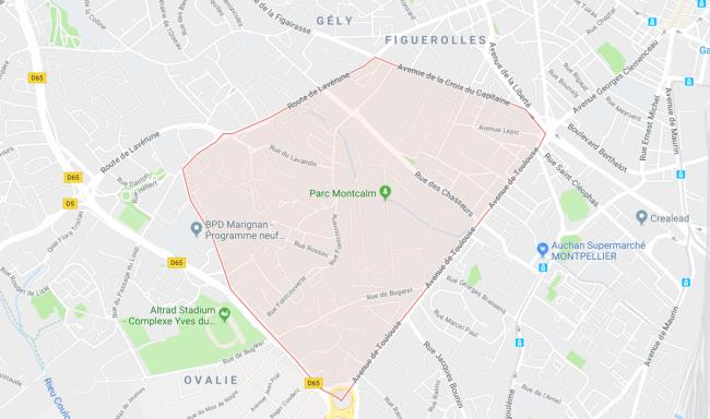 Un Quartier Bien Situé À Montpellier